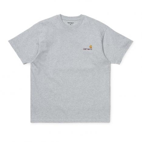 Carhartt WIP S/S American Script T-Shirt Ash Heather