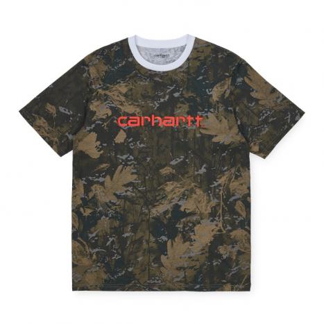 Carhartt WIP S/S Script T-Shirt Camo Combi