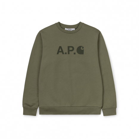 W' Sweatshirt Ice A.P.C. Kaki