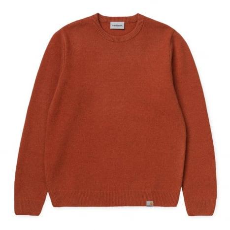 Carhartt WIP Allen Sweater Cinnamon