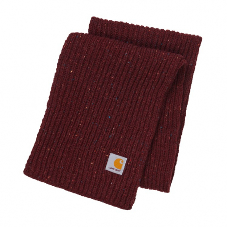 Carhartt WIP Anglistic Plain Scarf Bordeaux Heather