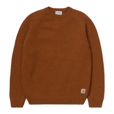 Carhartt WIP Anglistic Sweater Brandy Heather