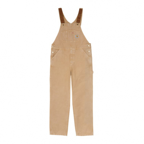 Carhartt WIP Bib Overall Dusty H Brown Worn Canvas