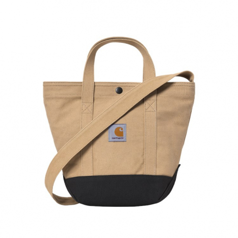 Carhartt WIP Canvas Small Tote Dusty H Brown
