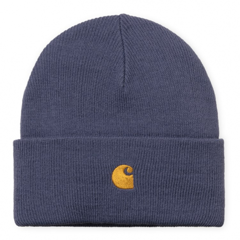 Carhartt WIP Chase Beanie Cold Viola / Gold