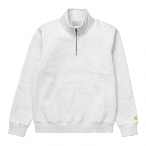 Carhartt WIP Chase Neck Zip Sweat Ash Heather