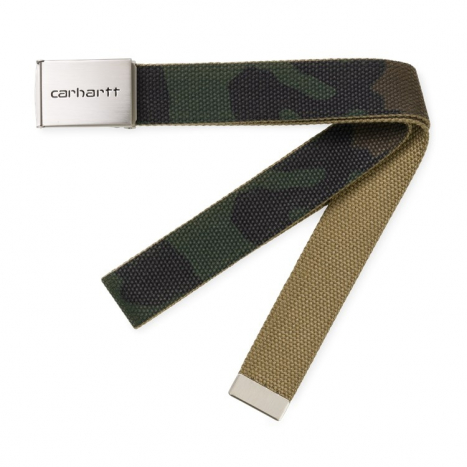 Clip Belt Chrome Camo Laurel | Officiel Carhartt WIP Store DK