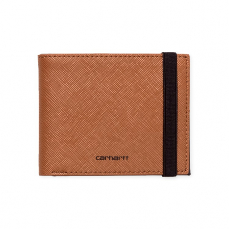 Crahartt WIP Coated Billfold Wallet Hamilton Brown