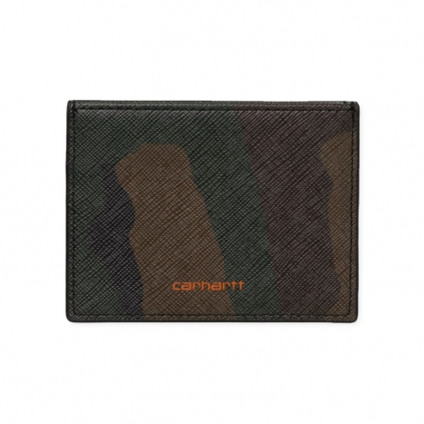 Carhartt WIP Coated Card Holder Camo Laurel