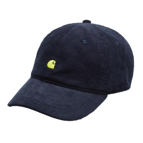 Carhartt WIP Harlem Cap Dark Navy / Limoncello