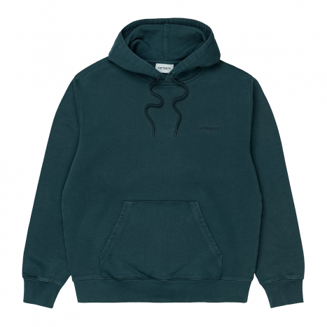 Carhartt WIP Hooded Mosby Script Sweat Deep Lagoon