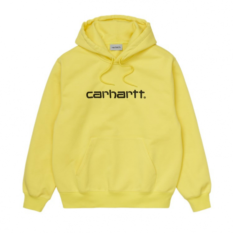 Carhartt WIP Hooded Carhartt Sweat Limoncello / Black