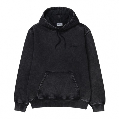 Carhartt WIP Hooded Mosby Script Sweat Black