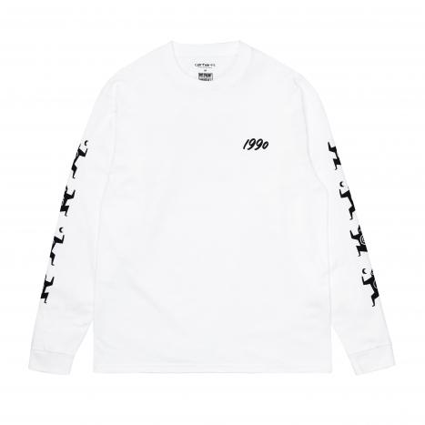 Carhartt WIP L/S Ninja Tune T-Shirt White