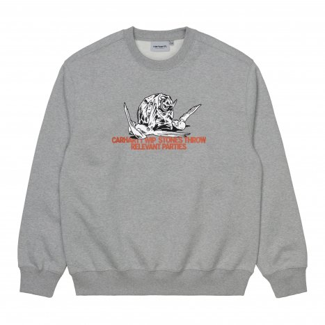 Carhartt WIP Stones Throw Sweatshirt Grey Heather