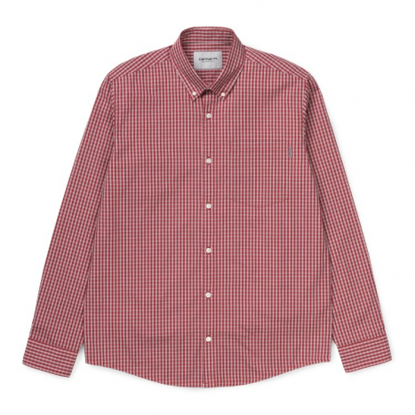 Carhartt WIP L/S Alistair Shirt Etna Red Check