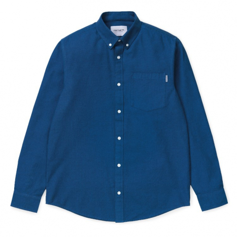 Carhartt WIP L/S Dalton Shirt Dark Navy / Azzuro.