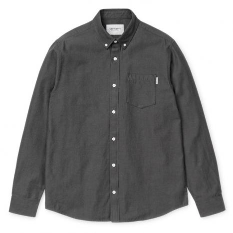 Carhartt WIP L/S Dalton Shirt Black / Shiver