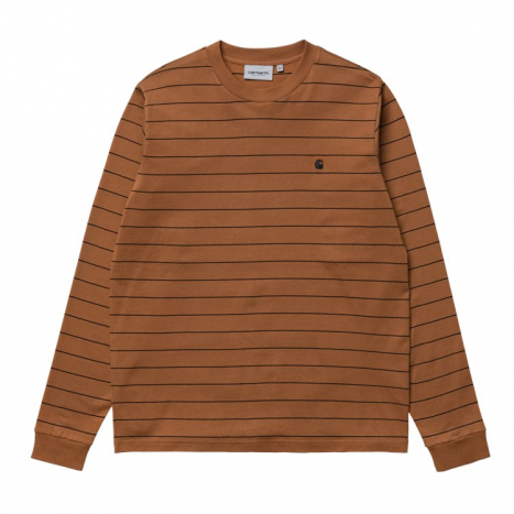 Carhartt WIP L/S Denton T-Shirt Rum / Black