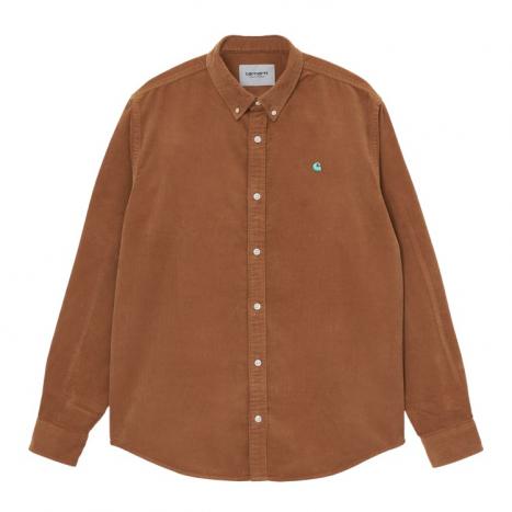 Carhartt WIP L/S Madison Fine Cord Shirt Rum / Bondi