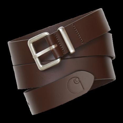 Carhartt WIP Logo Belt Dark Brown