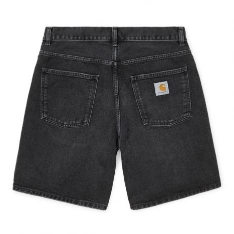 Carhartt WIP Newel Short Black Mid Worn Wash
