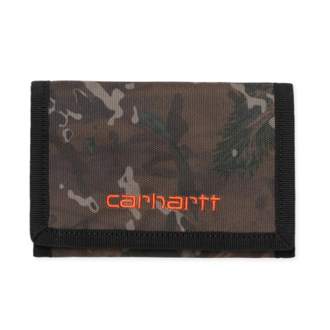 Carhartt WIP Payton Wallet Camo Combi / Safety Orange
