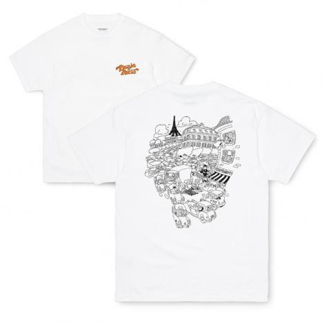 Carhartt WIP S/S Picnic In Paris T-Shirt White