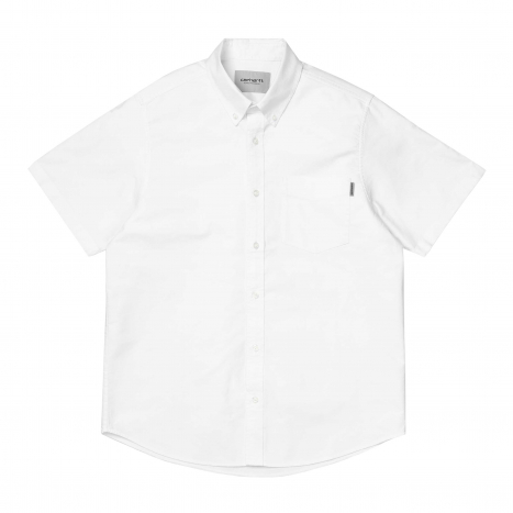 Carhartt WIP S/S Button Down Pocket Shirt White