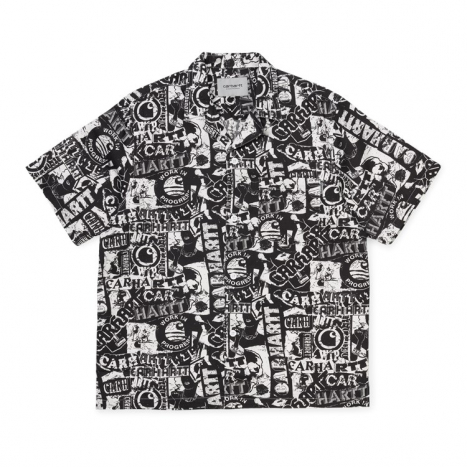 Carhartt WIP S/S Collage Shirt Black