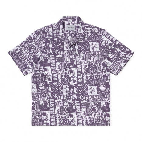 Carhartt WIP S/S Collage Shirt Decent Purple