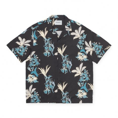 Carhartt WIP S/S Hawaiian Shirt Black