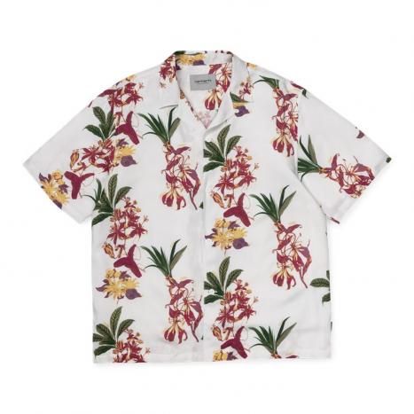 Carhartt WIP S/S Hawaiian Shirt White