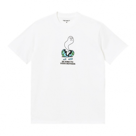 Carhartt WIP S/S Nice To Mother T-Shirt White