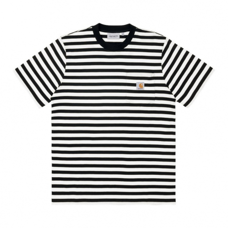 Carhartt WIP S/S Scotty Pocket T-shirt Black / White