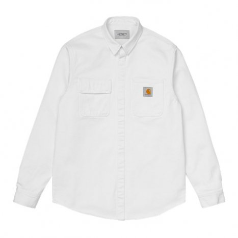 Carhartt WIP Salinac Shirt Jac White Worn Wash