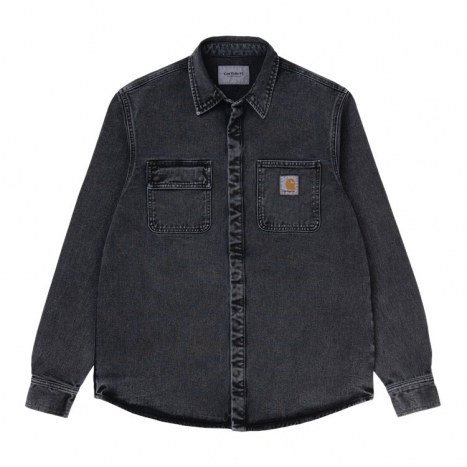 Carhartt WIP Salinac Shirt Jac Black Worn Wash