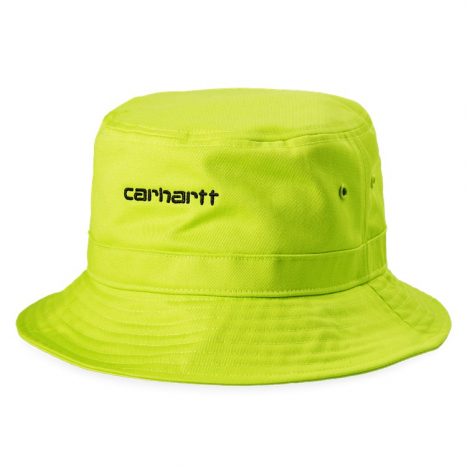 Carhartt WIP Script Bucket Hat Lime / Black