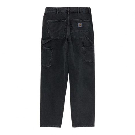 Carhartt WIP Single Knee Pant Org. Black Worn Canvas