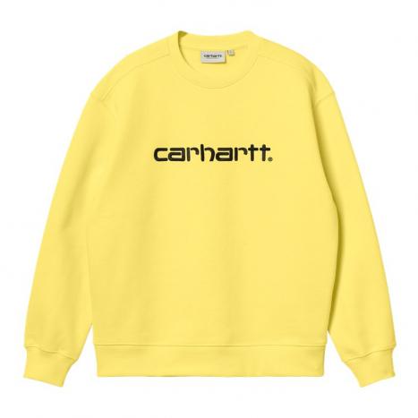 Carhartt WIP W' Carhartt Sweat Limoncello / black