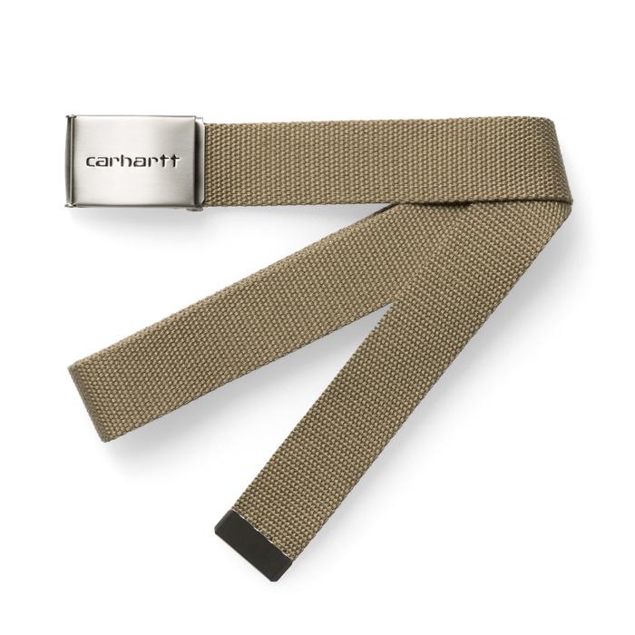 Carhartt WIP Clip Belt Chrome Leather