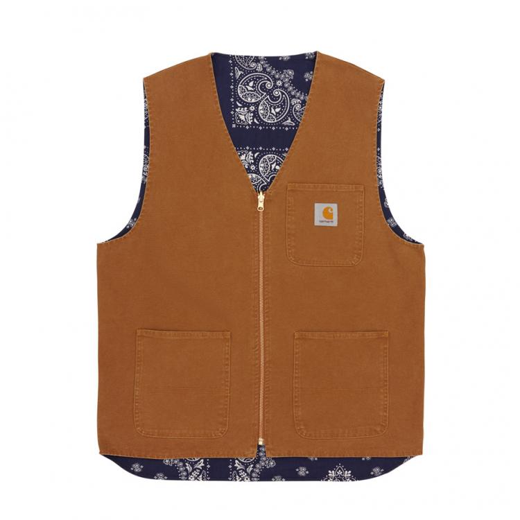 Bandana Work Vest Hamilton Brown / Navy
