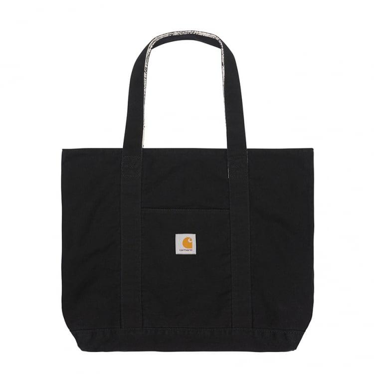 Carhartt WIP Bandana Tote Bag Black / Wax