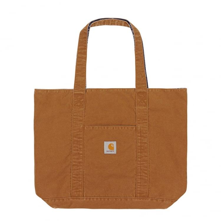 Carhartt WIP Bandana Tote Bag Hamilton Brown / Dark Navy