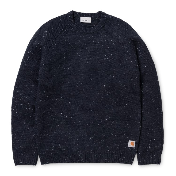 Carhartt WIP Anglistic Sweater Dark Navy Heather