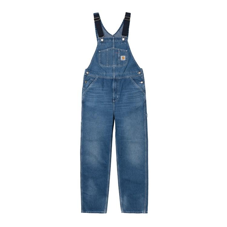 Carhartt WIP Bib Overall Blue Mid Worn Wash