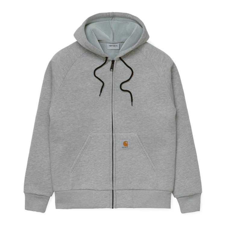 Carhartt WIP Car-Lux Hooded Jacket Grey Heather
