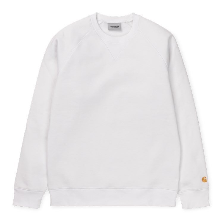 Carhartt WIP Chase Sweat White / Gold