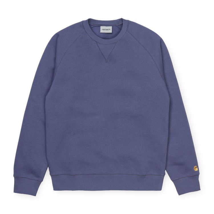 Carhartt WIP Chase Sweat Cold Viola / Gold