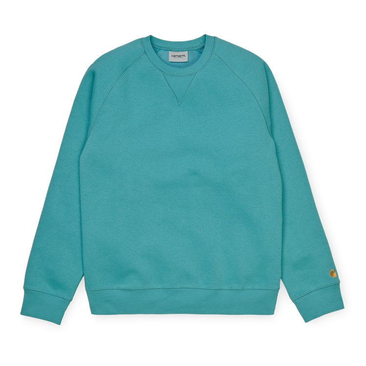 Carhartt WIP Chase Sweat Frosted Turquoise